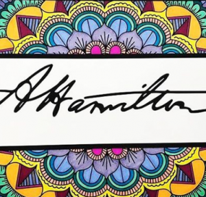 Alexander Hamilton signature illustration